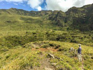 Crater Paliku Cabin Area Scenic Hiker