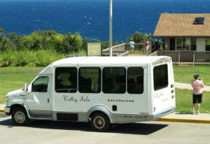 Valley Isle Excursions Van at Pools of Oheo Visitor Center