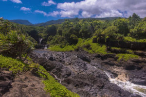 waterfalls in kipahulu section